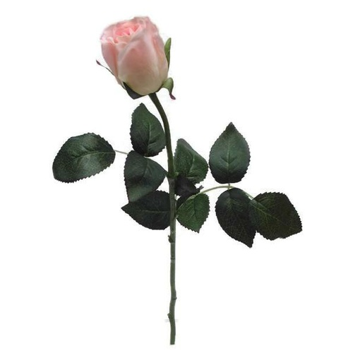 Pink Real Touch Rose Open Bud GL12725