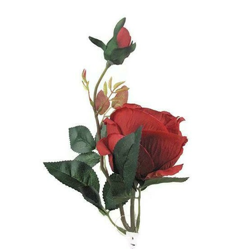 Single Rose short Stem HF1018-RD