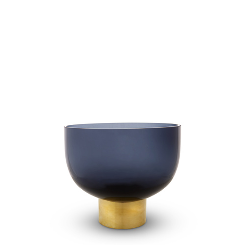 Luxor Glass Vase, Indigo Blue (L)