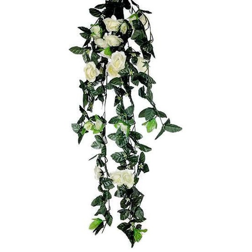 White Rose Hanging Spray S3343