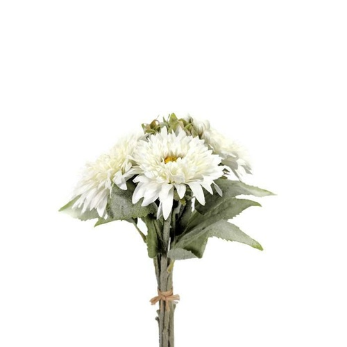 6 head Gerbera bunch SM002-WHITE