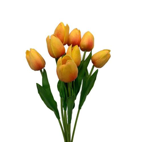 Real Touch Tulip Bunch x 8 stems SM111-OR